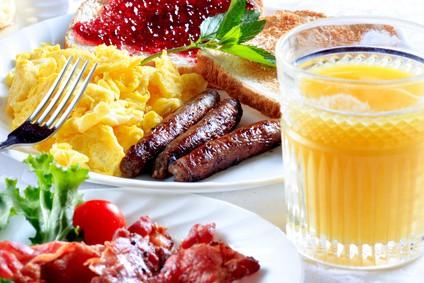 Frühstück kann sehr belastend am Morgen sein....